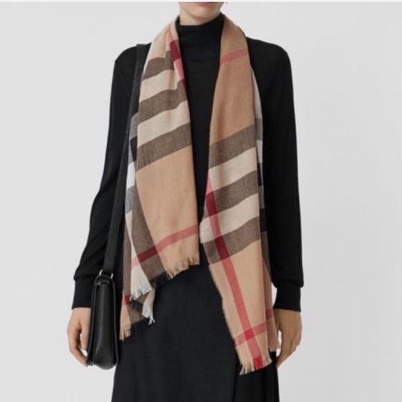 c3a9df44ef772 Burberry Accessories | Lightweight Check Wool Silk Scarf | Poshmark
